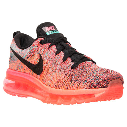 nike flyknit air max pink and orange
