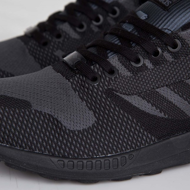purchase cheap 6def5 5c6ab adidas zx flux reflective weave black