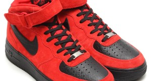 Nike Air Force 1 Mid 'Red Suede Python'
