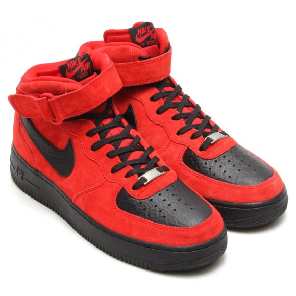 Air Force 1 Shoes Black And Red