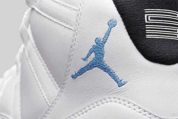 Air Jordan 11 Retro Legende Blå Kvinners Cowboy Boots 4BJQIBM56
