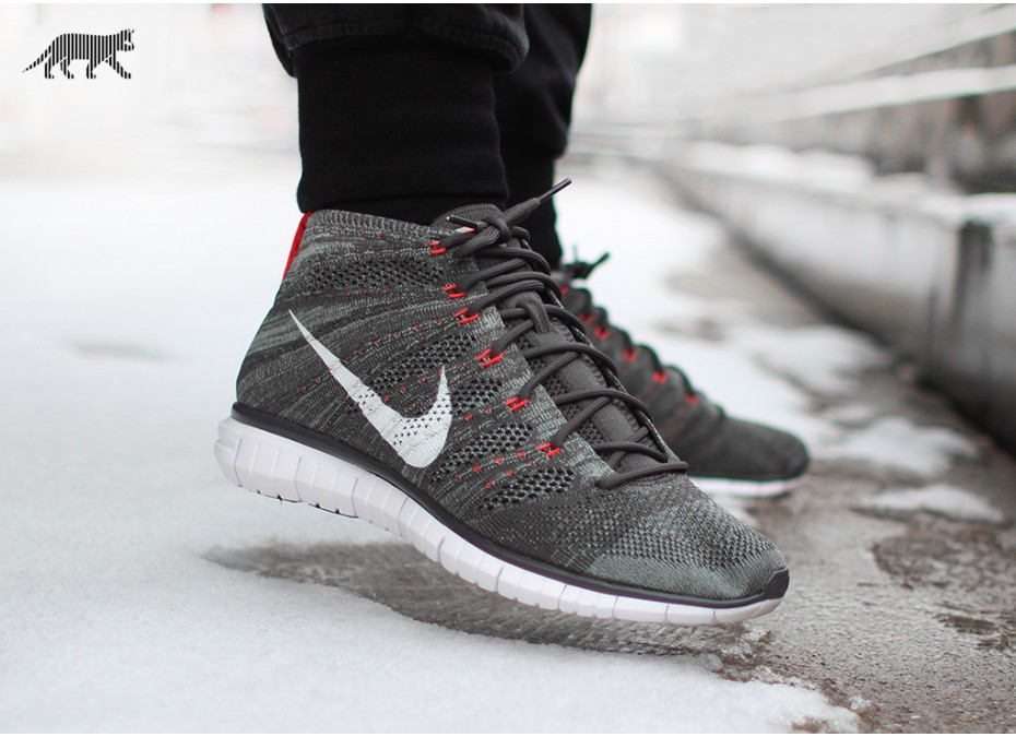 ... Nike Free Flyknit Chukka Midnight Fog Mica Green Bright Cream - First  Look 5