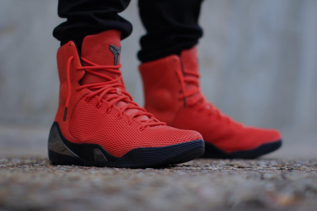 ... Nike Kobe 9 KRM EXT 'Challenge Red' – On-Feet Look4 ...