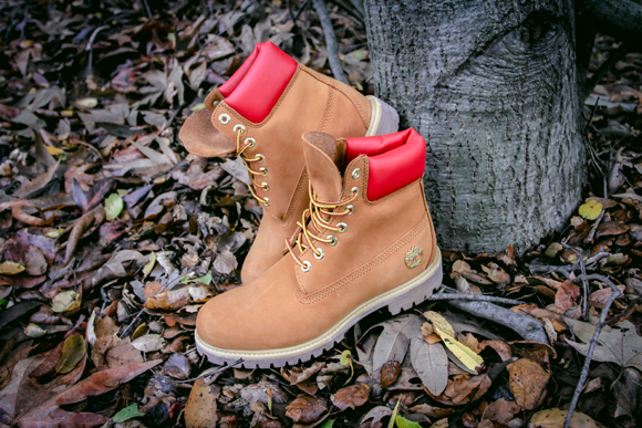 c588410fe32 Shoe Palace x Timberland Wheat/ Red 6 Inch Boot - WearTesters