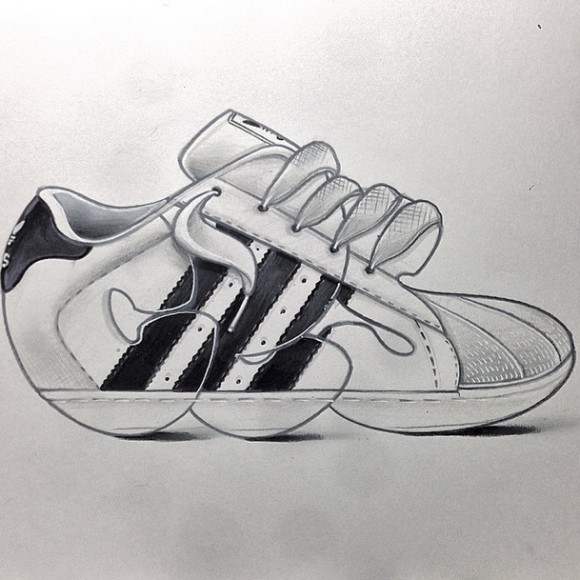 ac9b49008ade Graffiti Sneaker Art by CES