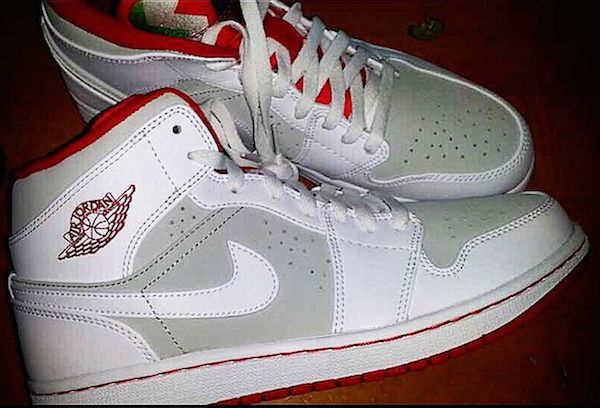 best service ab779 19d38 ... Air Jordan 1 Retro Mid  Hare  - First Look ... tenis ...