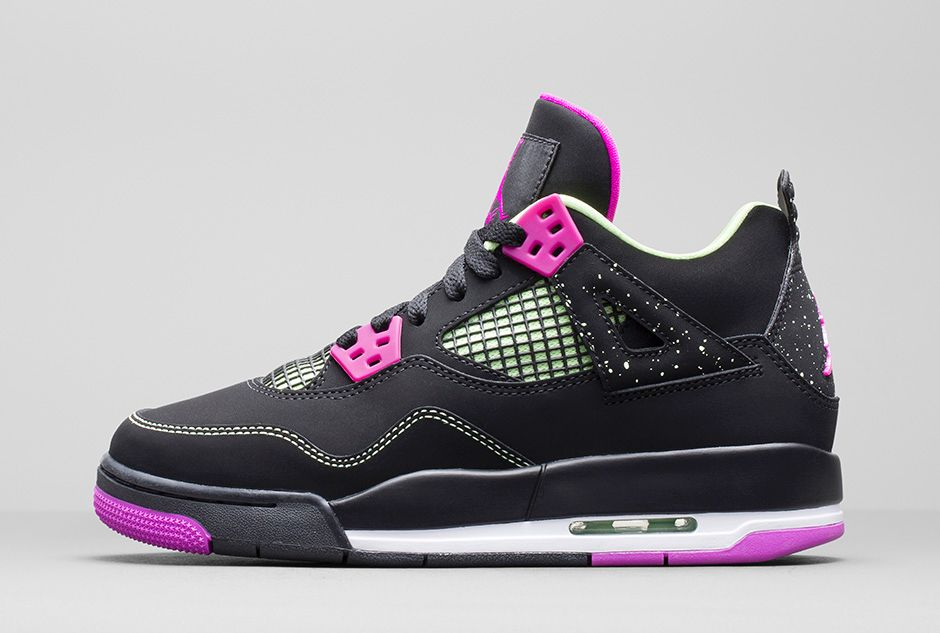 girls air jordan 4 retro 39 fuchsia 39 available now weartesters. Black Bedroom Furniture Sets. Home Design Ideas
