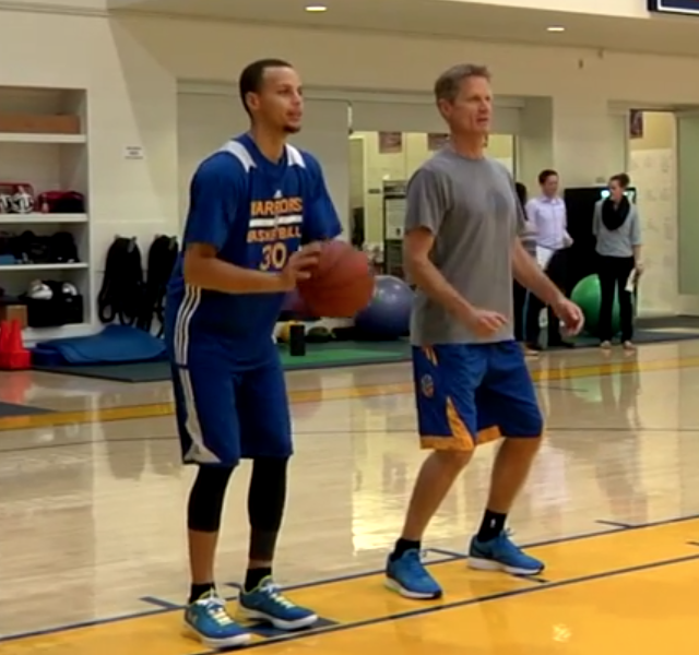Stephen Curry Wears Under Armour Curry One Low PE During ...