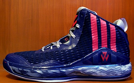 separation shoes e4ae6 82fa2 ... Blue larger adidas J Wall 1 Navy Red - First Look - WearTesters ...