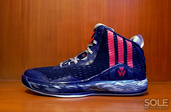 adidas j wall 2 navy blue basketball shoes