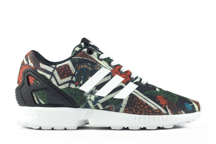 Womens Adidas ZX Flux Smooth Flora Low Trainers S82936