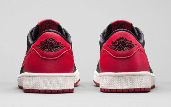Air Jordan 1 Retro Low OG 'Black: Red' - Official Look + Release Info 4
