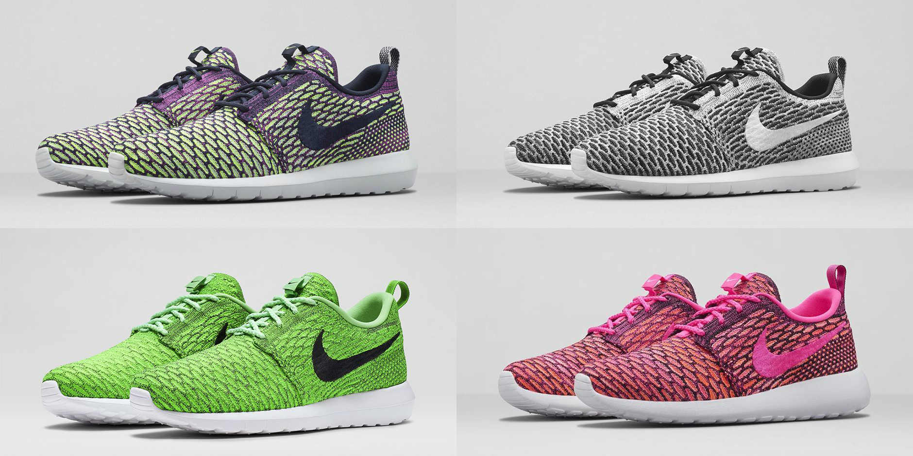 nike flyknit roshe run multiple colorways available now. Black Bedroom Furniture Sets. Home Design Ideas