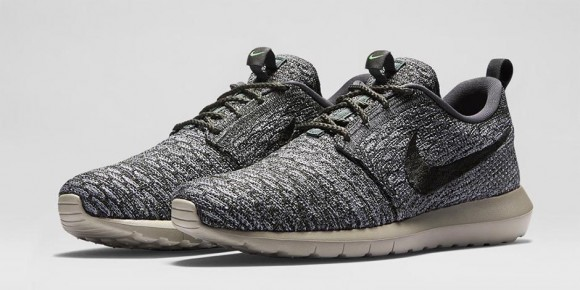 nike flyknit roshe run wolf grey for sale