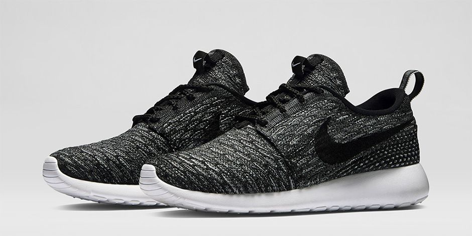 black and grey flyknit