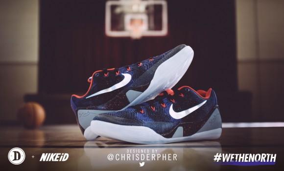 the best attitude ec100 e35eb ... DeMar DeRozan Wore chrisderpher Designed Nike Kobe 9 EM iD ...