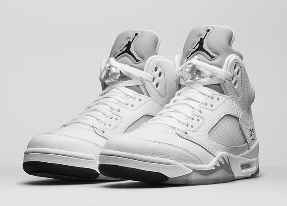 Air Jordan 5 Retro White Metallic Silver - Official Look + Release Info 1