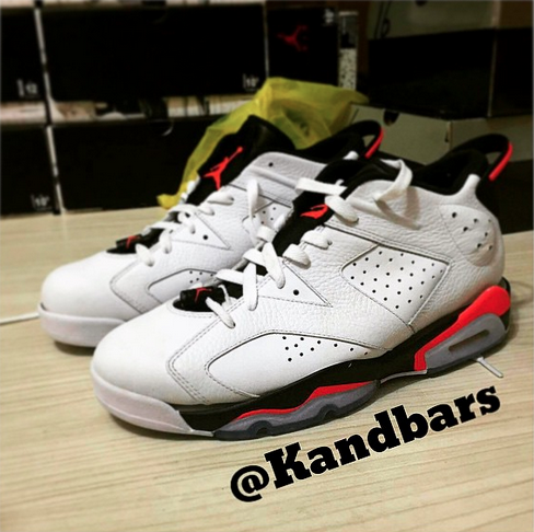 cheap for discount 476c9 043c4 Air Jordan 6 Retro Low White/ Infrared - Black - WearTesters