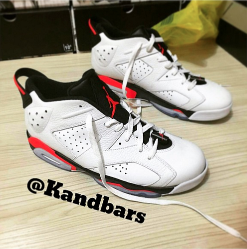 cheap for discount 94358 4c853 Air Jordan 6 Retro Low White/ Infrared - Black - WearTesters