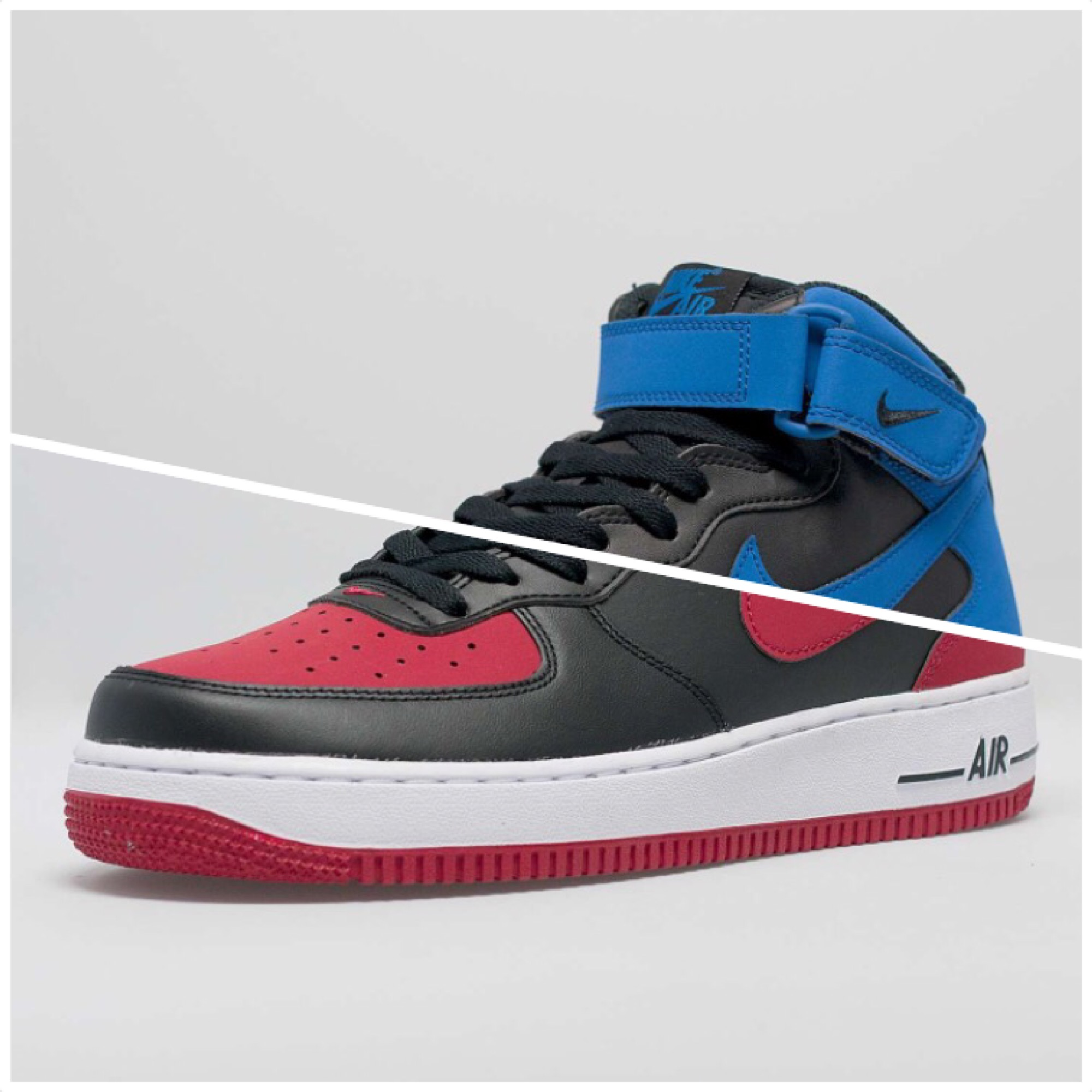 Nike Air Force 1 Mid Colorways Inspired by the 'Bred ...