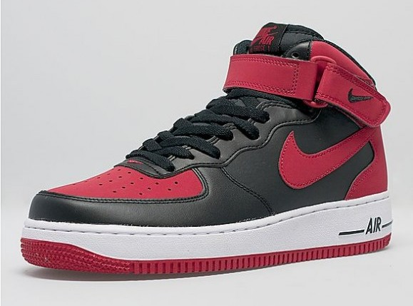 black and red air force 1