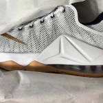 Nike LeBron 12 Low White: Gold