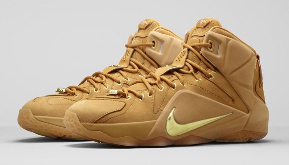 Lebron 12 Wheat New Basketball Shoes