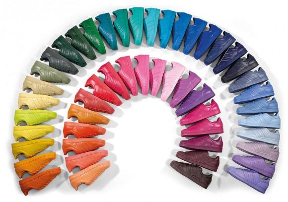 new product b59a6 b721b Pharrell x adidas Originals Superstar 'Supercolor' Pack ...