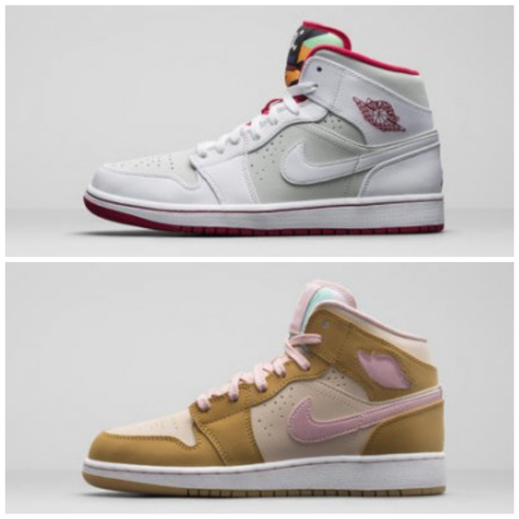 online store 2d603 1391c Air Jordan 1 Retro Mid 'Hare' & 'Lola' - Available Now ...
