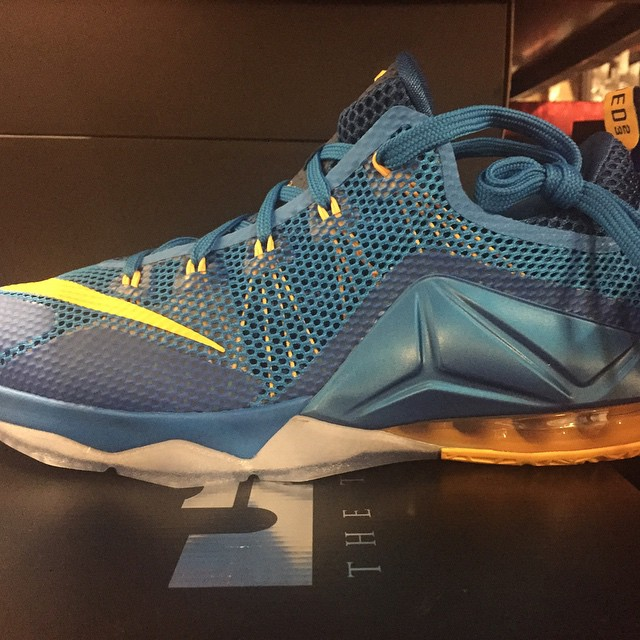 Nike LeBron 12 Low 'Photo Blue' lateral side ...