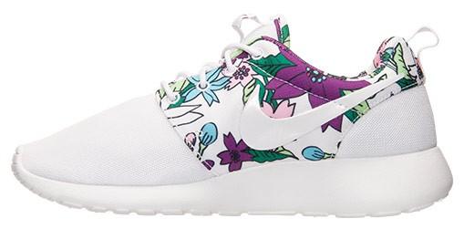 Nike Roshe Course Aloha Impression Dencre Blanche