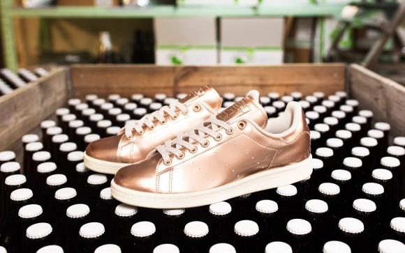adidas stan smith copper kettle metallic rose gold