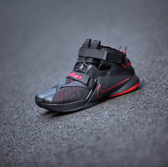 info for 9b187 b5c7b Detailed Look At The Nike Zoom Soldier IX (9) In Black/ Red ...