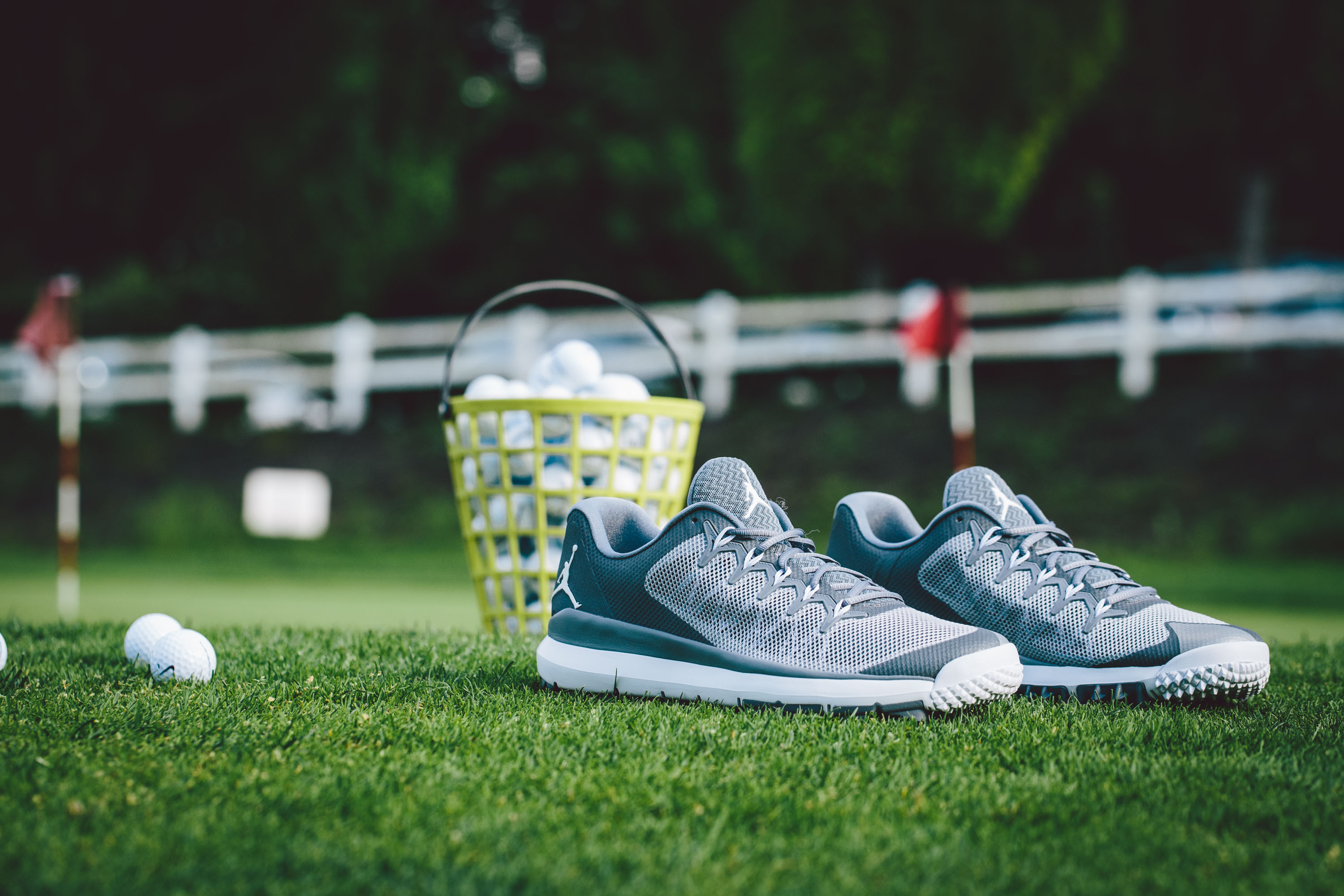 There was plenty of fancy footwear spotted at last weekend's Michael Jordan Celebrity Invitational Golf Tournament, included in the batch the latest look