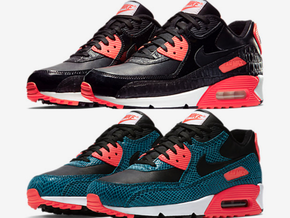 nike air max 90 black crocodile skin