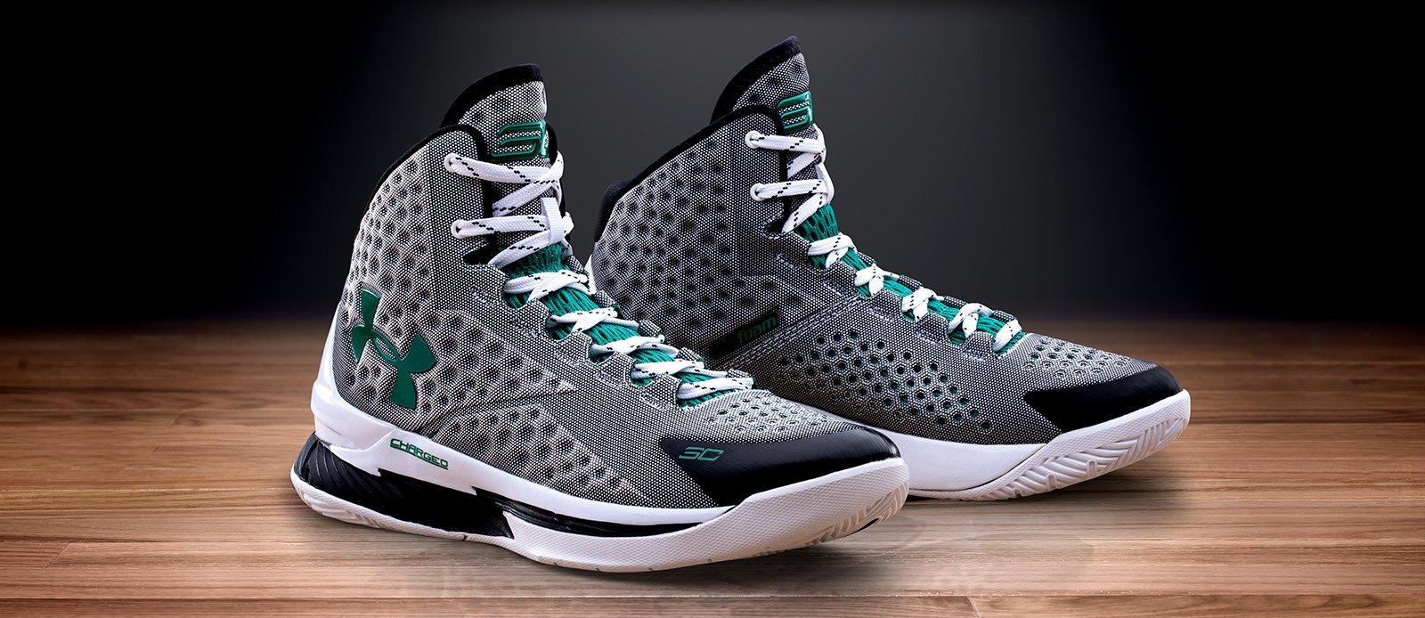 under armour curry 1 low green white