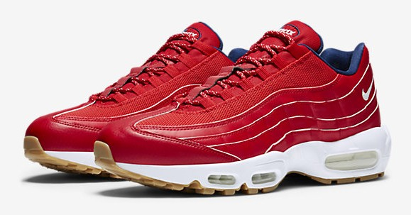 red white blue air max 95