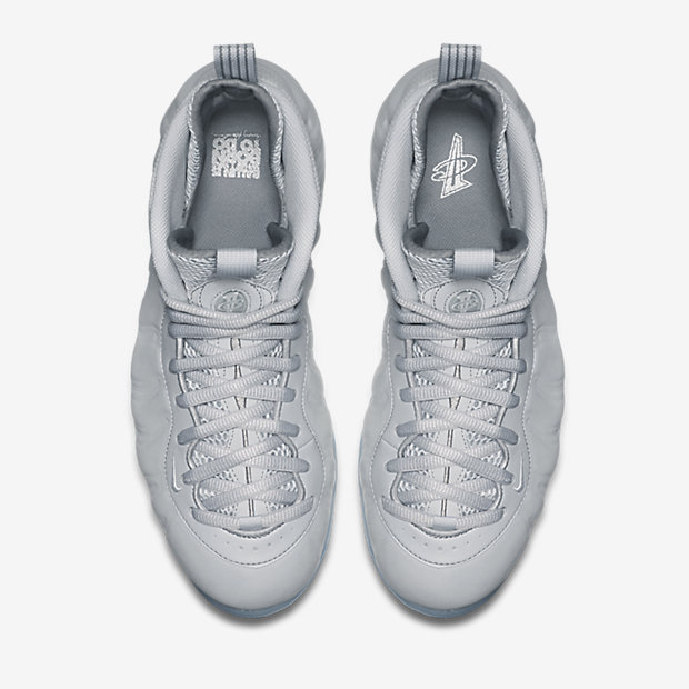 Nike Foamposite One 'Wolf Grey' top view