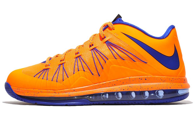 new product 4a697 8eacc ... LeBron features a combination of Total Orange, Bright Crimson as well  as Soar Blue. This color combo is perfect for Boise State, Mets and Knicks  fans, ...