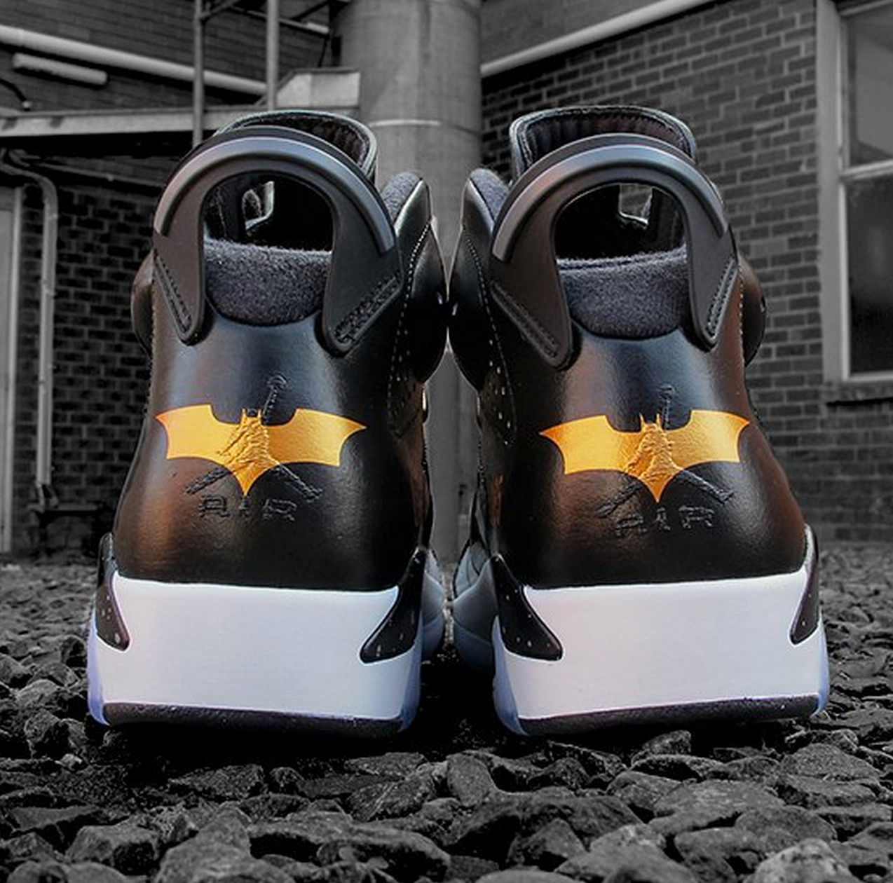 d58d0f356d1590 shop air jordan 4 batman custom 1d063 885e4  uk sekure d dark knight custom  2 batmans air jordan 6 batman costume and 1989 batmobile