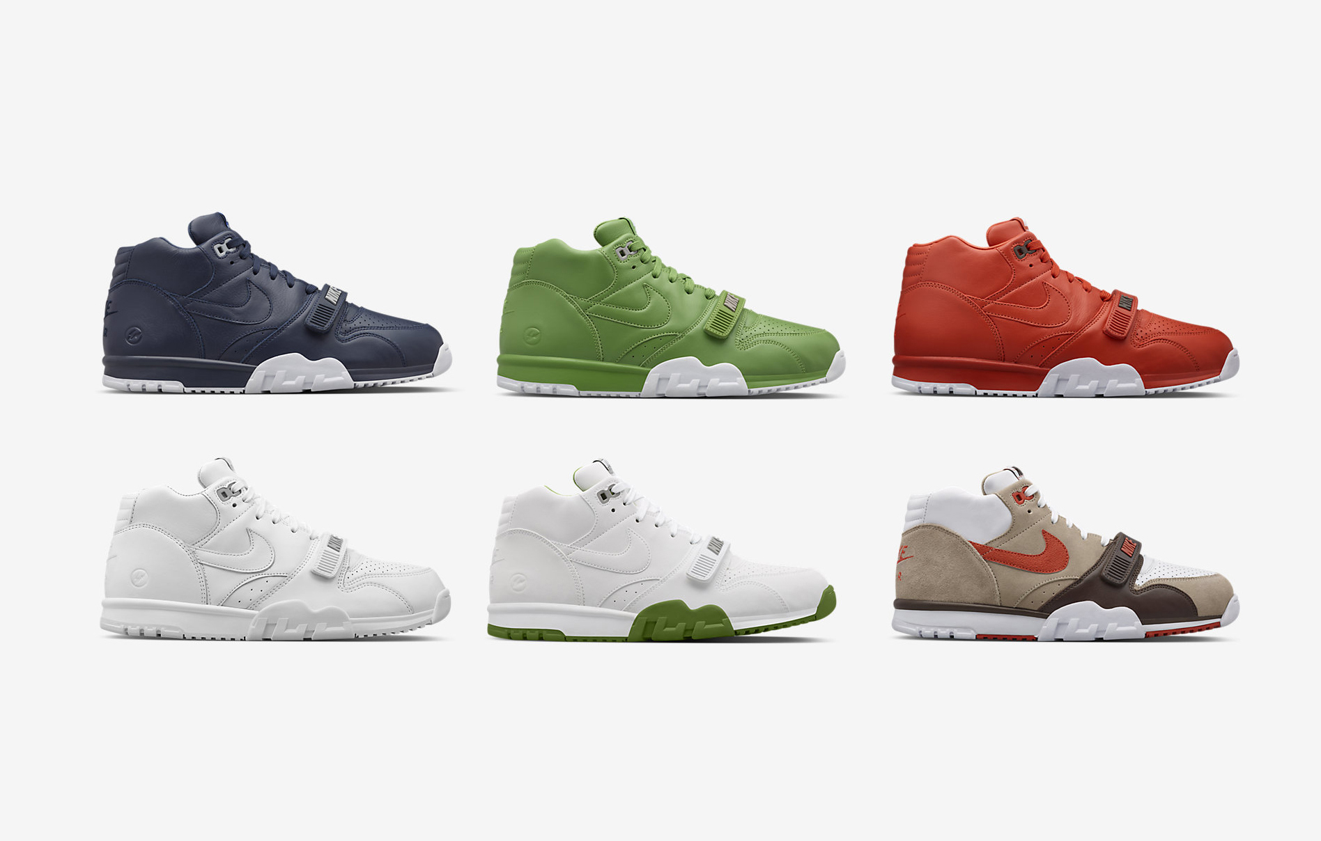 huge inventory competitive price to buy Fragment x Nike Air Trainer 1 Mid - 6 Colorways Available ...