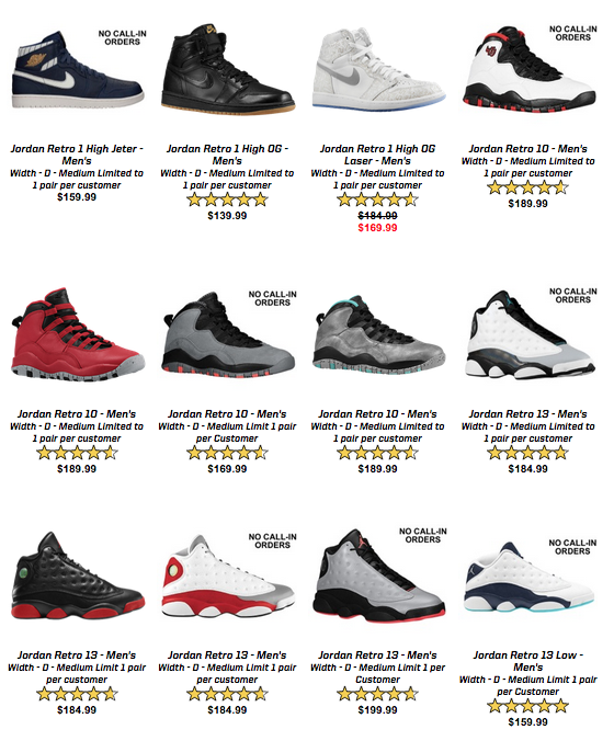 classic fit 27b13 e9c03 Huge Jordan Retro Restock Coming to Eastbay - WearTesters