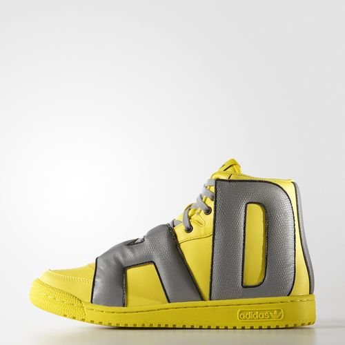 adidas Letters Reflective Core Yellow 1 adidas Letters Reflective Core  Yellow lateral ...