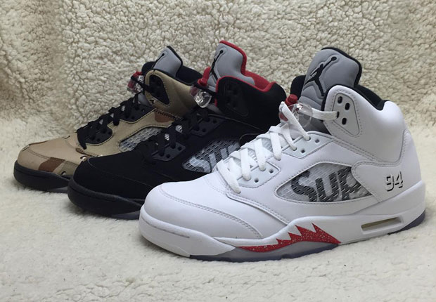 reputable site 44240 ce8d6 Take a Look at the Supreme x Air Jordan 5 Trio - WearTesters