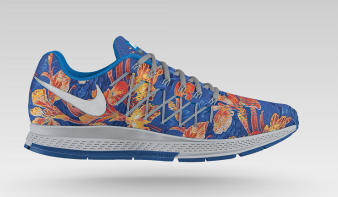 nike pegasus with flowers