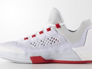 adidas CrazyLight Boost 2015 White Clear Grey - Red Main