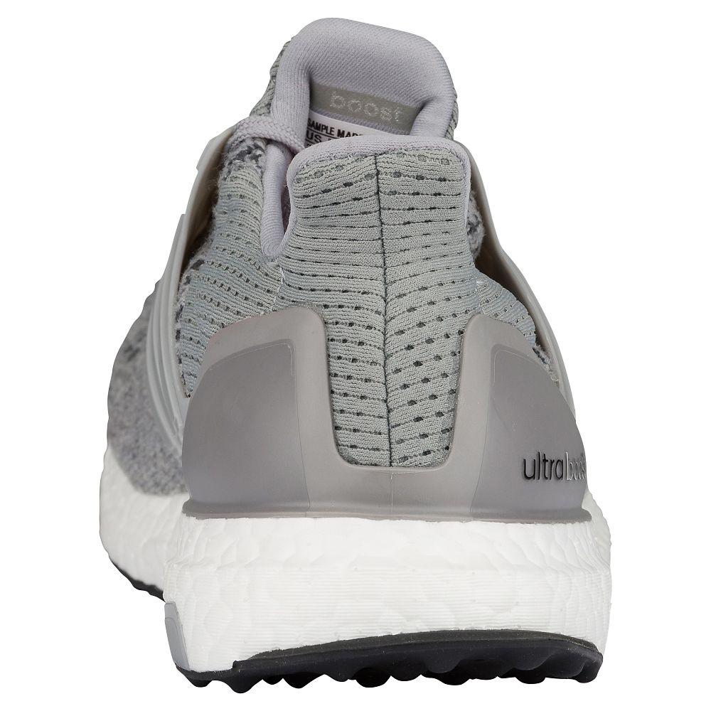 adidas Ultra Boost Grey: Silver Metallic heel
