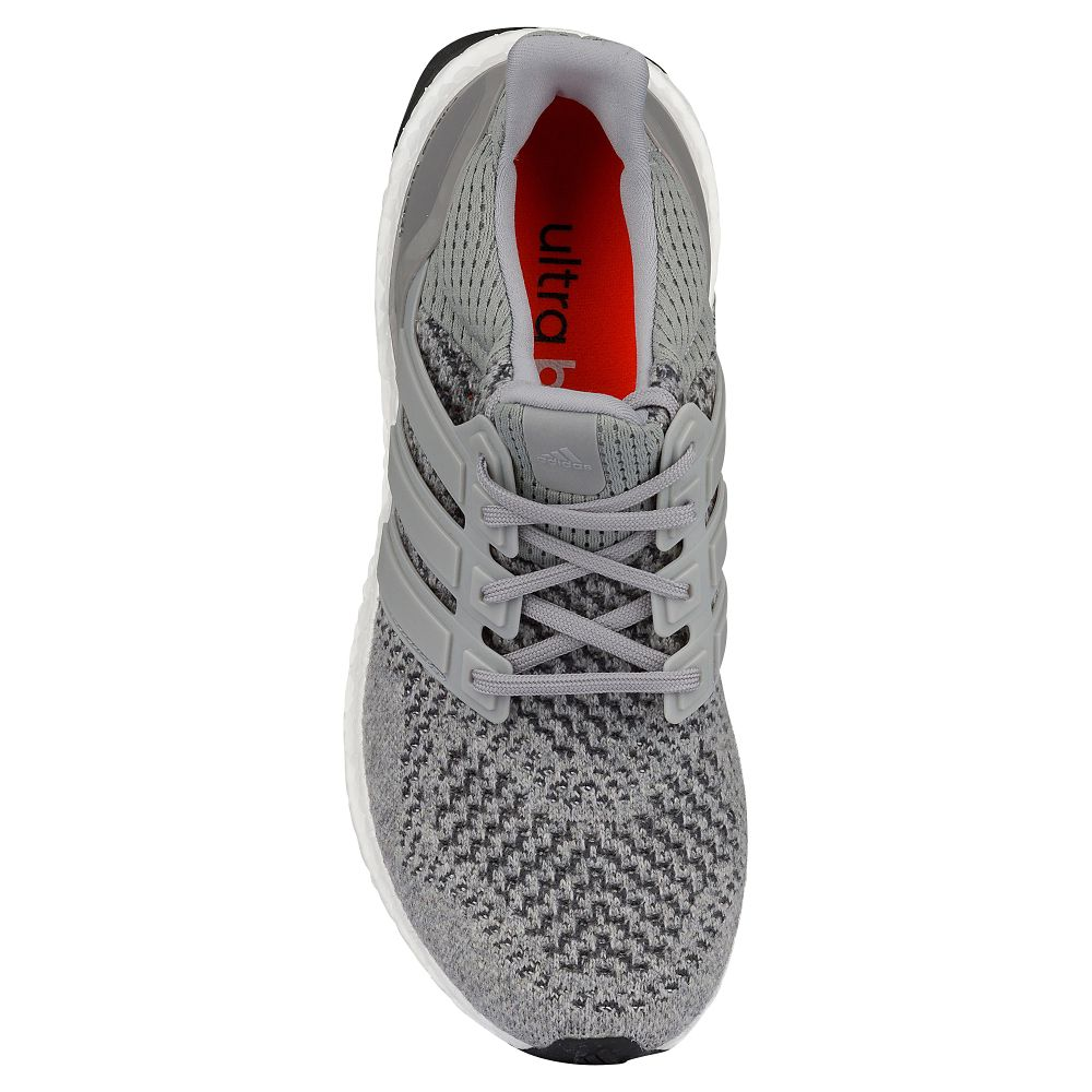 adidas Ultra Boost Grey: Silver Metallic top view