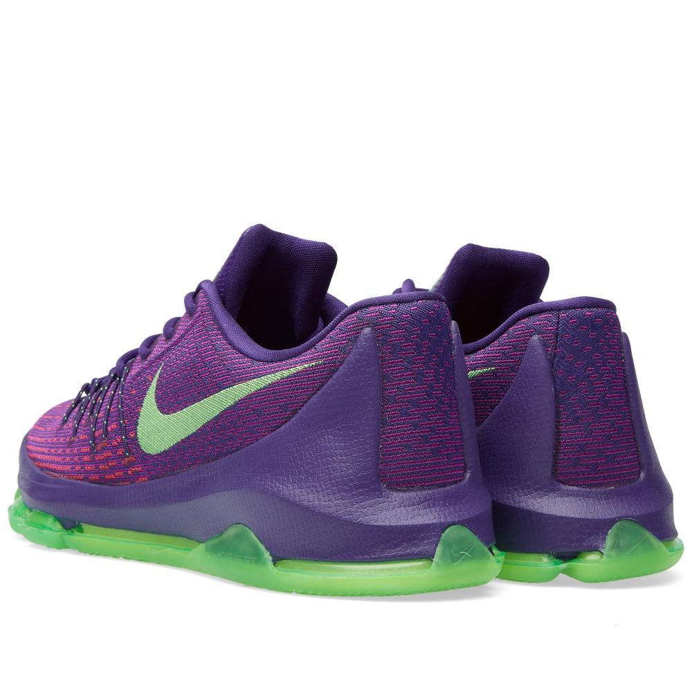 Lebron 10 green and purple