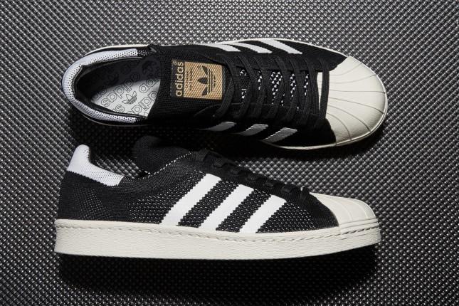 Adidas Originals '80 Superstar Maschili Formatori Primeknit Bianco / Nero / Metallic ozZF5t